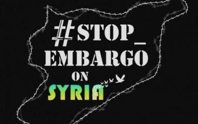 Stop all'embargo economico verso la Siria