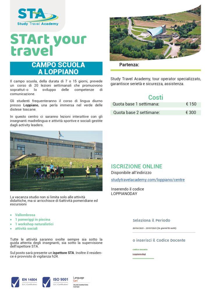 Iscrizione Study Travel